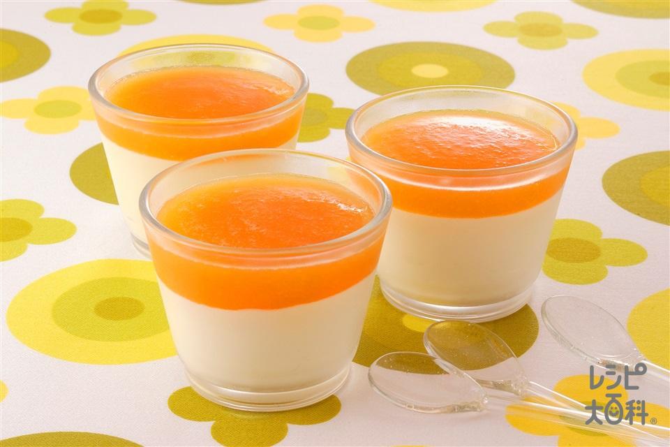 レアチーズケーキ メロンピューレがけ(クリームチーズ+「パルスイート」を使ったレシピ)