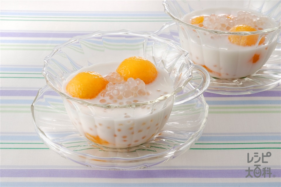 ココナッツメロン(ココナッツミルク缶+牛乳を使ったレシピ)