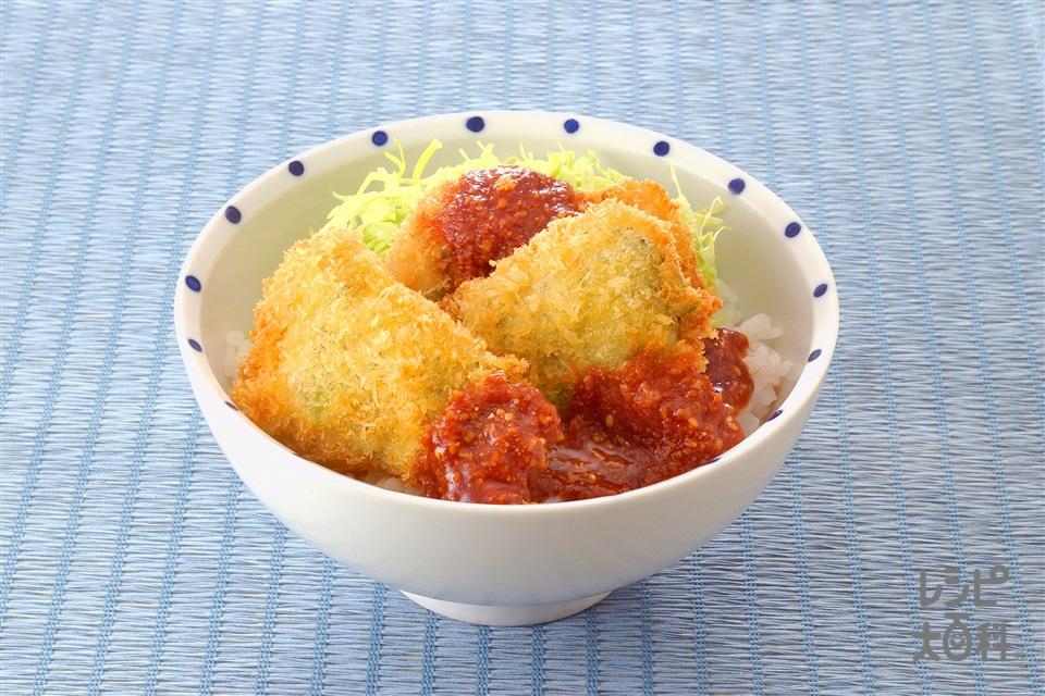 ソースかつ丼(豚ひと口かつ肉+ご飯を使ったレシピ)