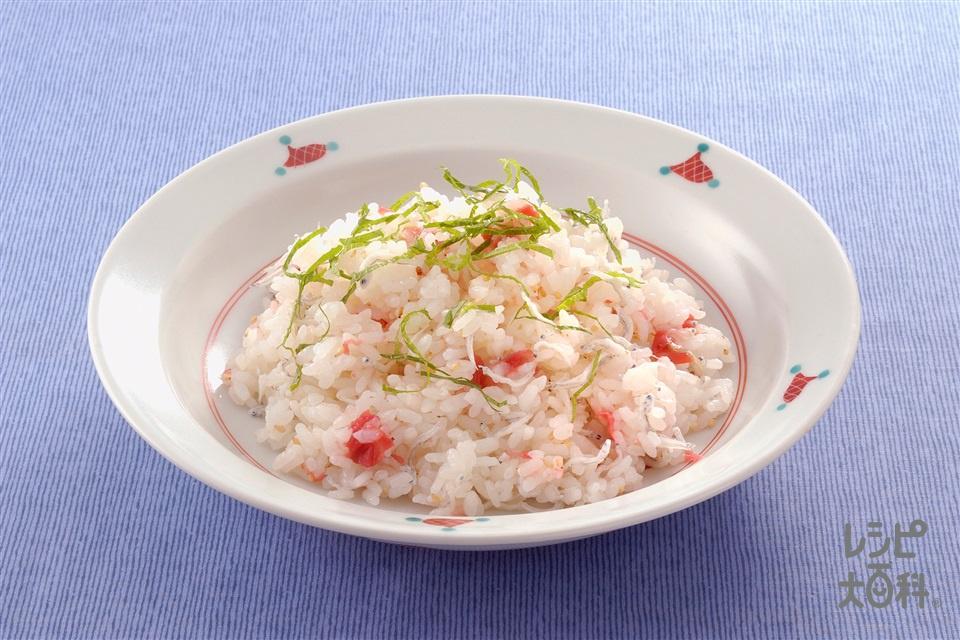 梅ずし(炊きたてご飯+ちりめんじゃこを使ったレシピ)