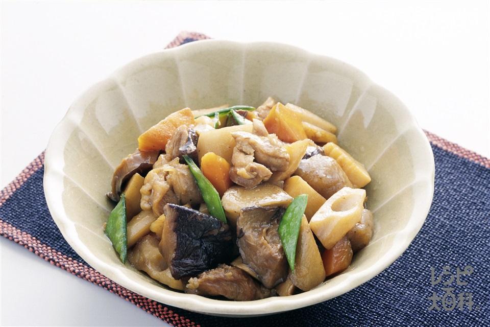 筑前煮(鶏もも肉+ゆでたけのこを使ったレシピ)