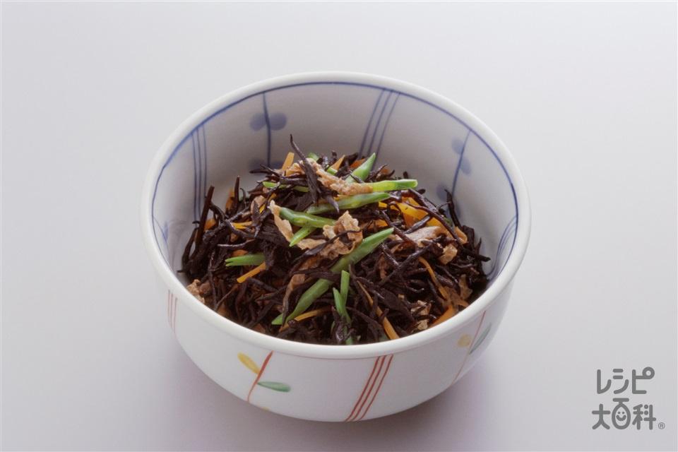 ひじきの煮もの(ひじき+油揚げを使ったレシピ)