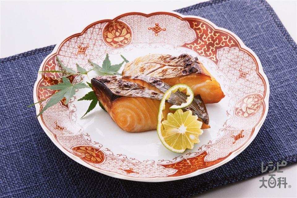 さわらのつけ焼き(さわら+すだちを使ったレシピ)