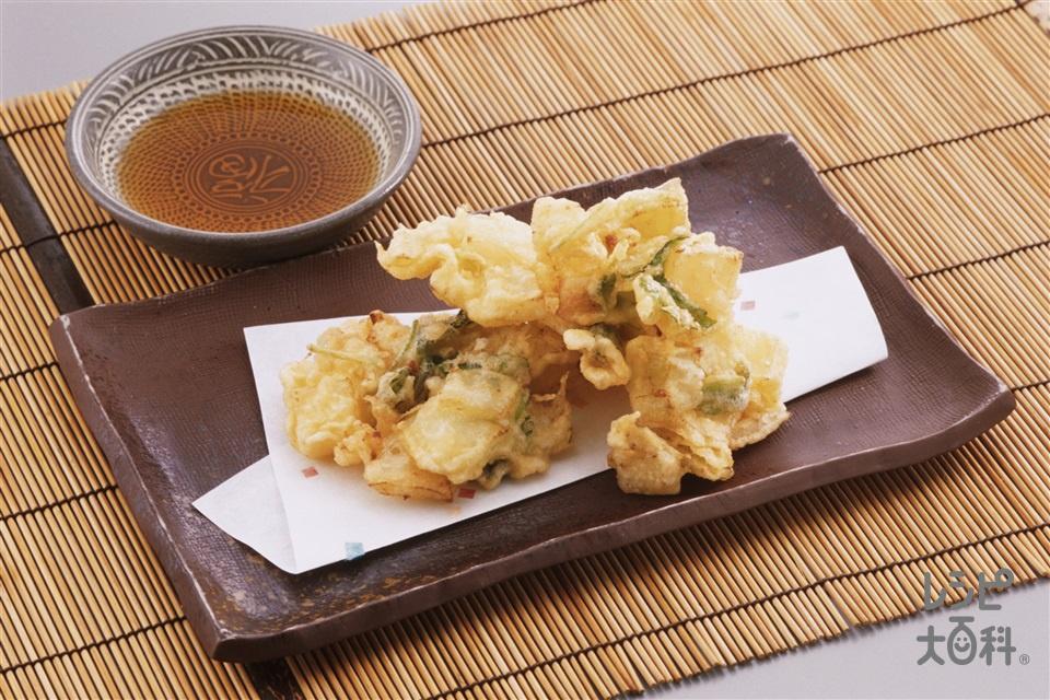 野菜のかき揚げ(小柱+玉ねぎを使ったレシピ)