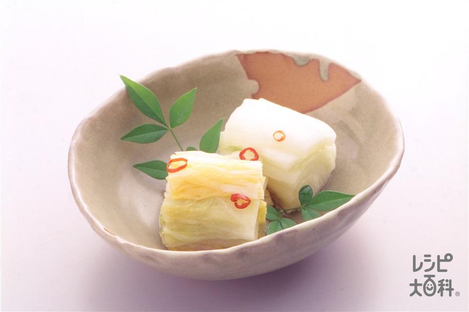 白菜漬け(白菜+赤唐がらし(乾)を使ったレシピ)