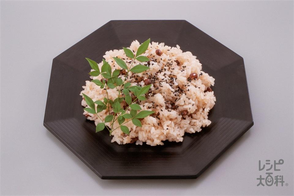 お赤飯(もち米+あずき(乾)を使ったレシピ)