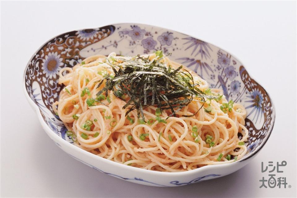 和風たらこスパゲッティ(スパゲッティ+からし明太子を使ったレシピ)