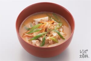 赤味噌と里芋の豚汁