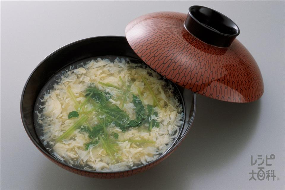 かき玉汁(卵を使ったレシピ)