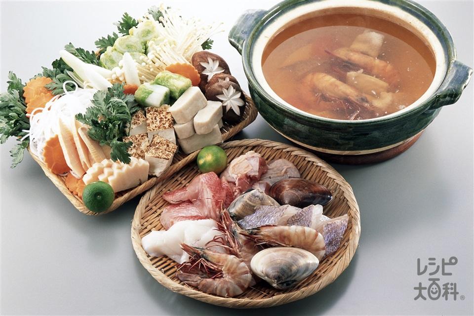 寄せ鍋(たい+さわらを使ったレシピ)