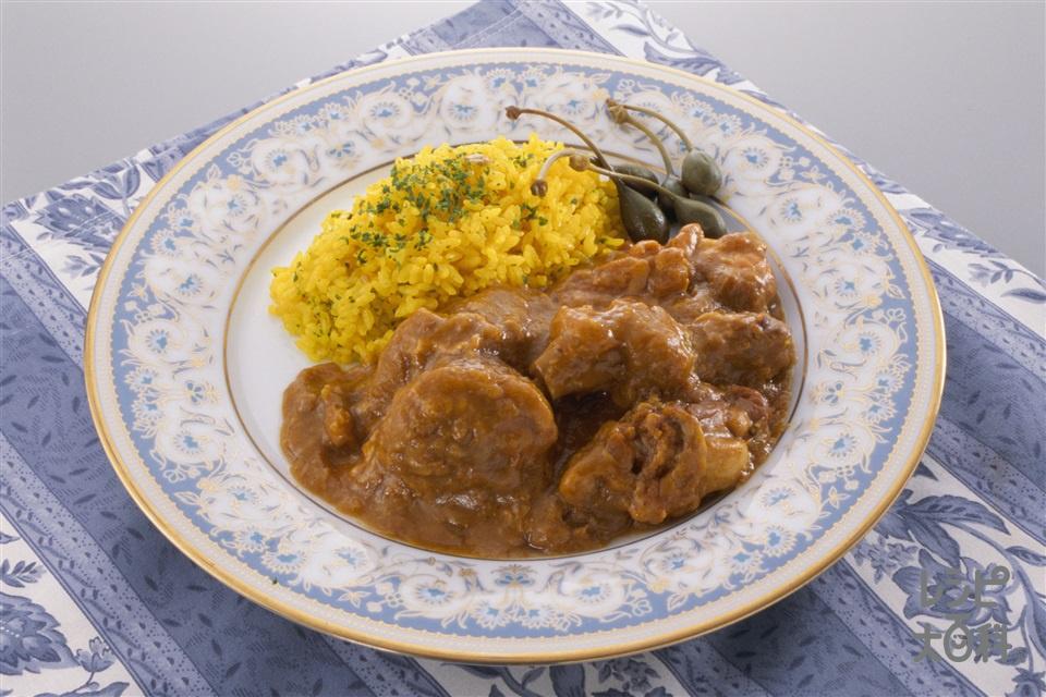 チキンカレー(玉ねぎのみじん切り+米を使ったレシピ)