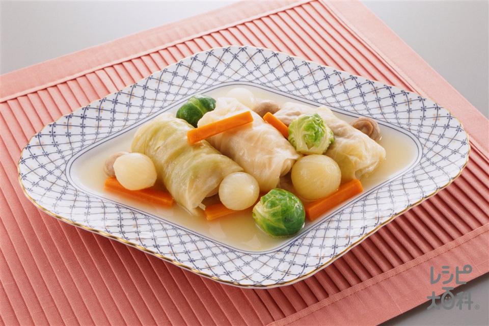 ロールキャベツ(キャベツ+合いびき肉を使ったレシピ)