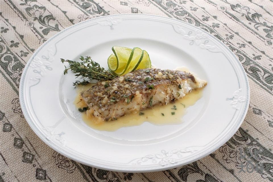 白身魚の香草焼き(白身魚(さわら など)+ライムを使ったレシピ)