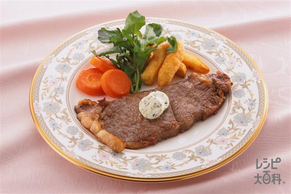 ビーフステーキ(牛サーロイン肉+じゃがいもを使ったレシピ)