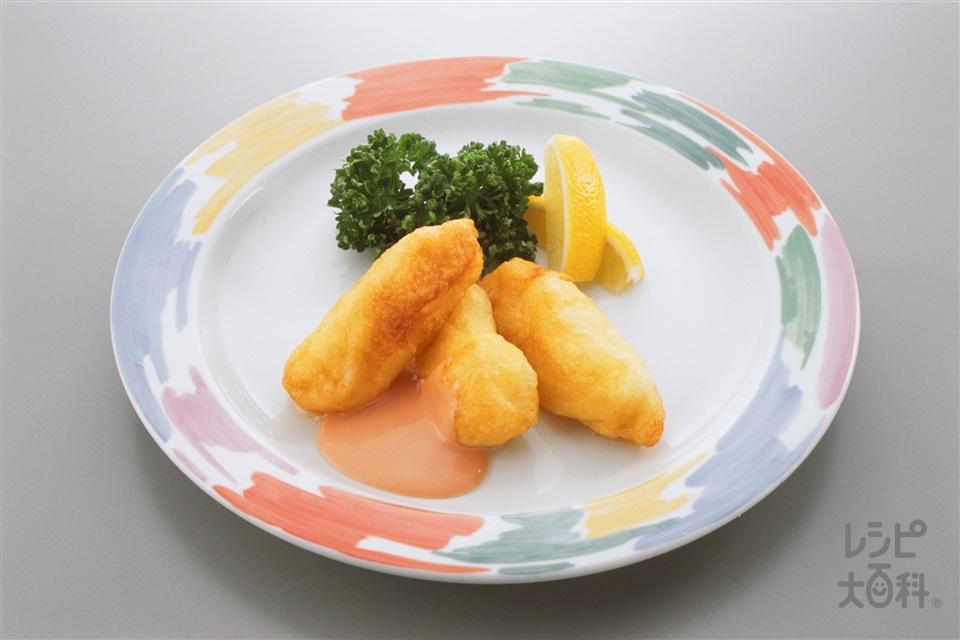 白身魚のフリッター(白身魚+レモンを使ったレシピ)