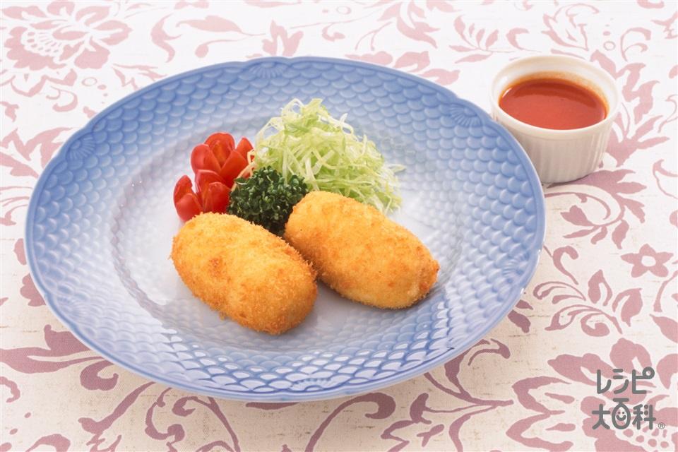 クリームコロッケ(温めた牛乳+ミニトマトを使ったレシピ)