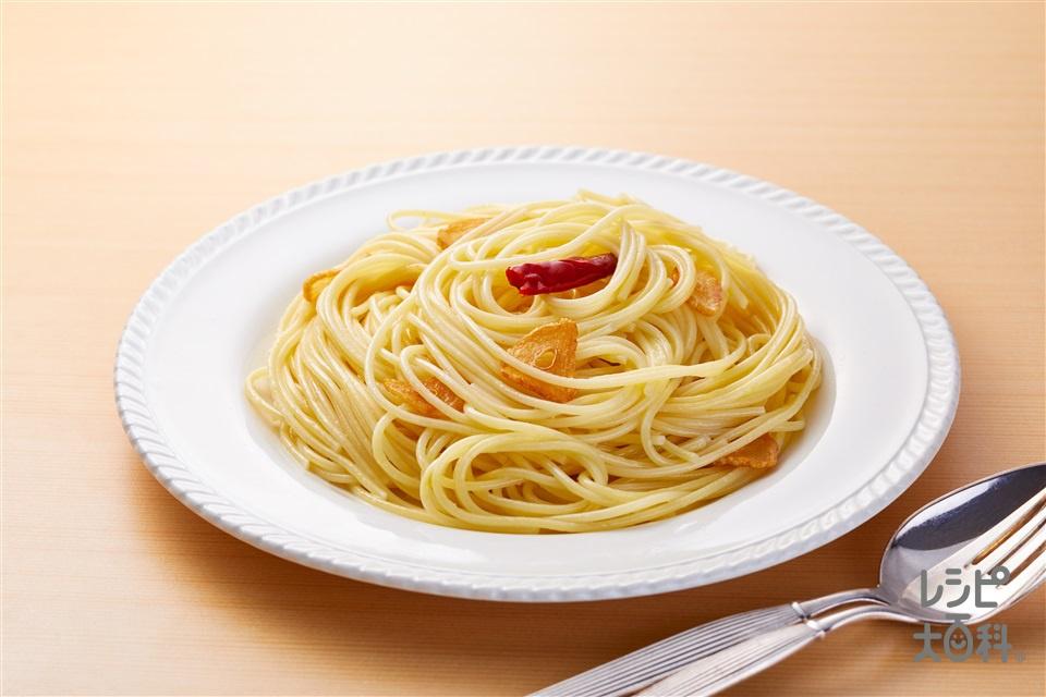 うま味しっかりペペロンチーノ(スパゲッティ+にんにくを使ったレシピ)