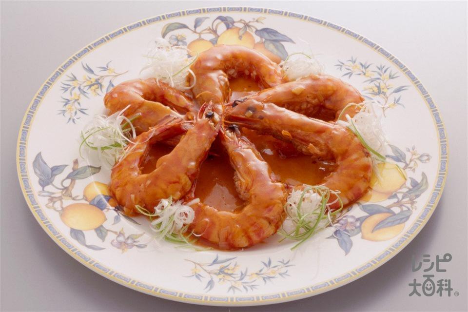干焼蝦仁(車えび+ねぎのみじん切りを使ったレシピ)