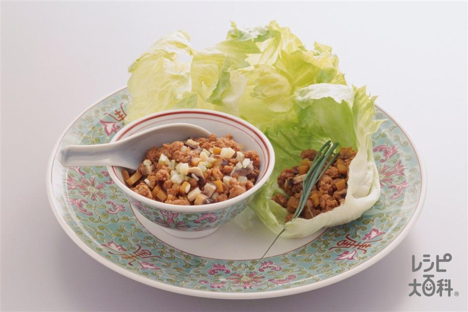 ひき肉のレタス包み(豚ひき肉+レタスを使ったレシピ)