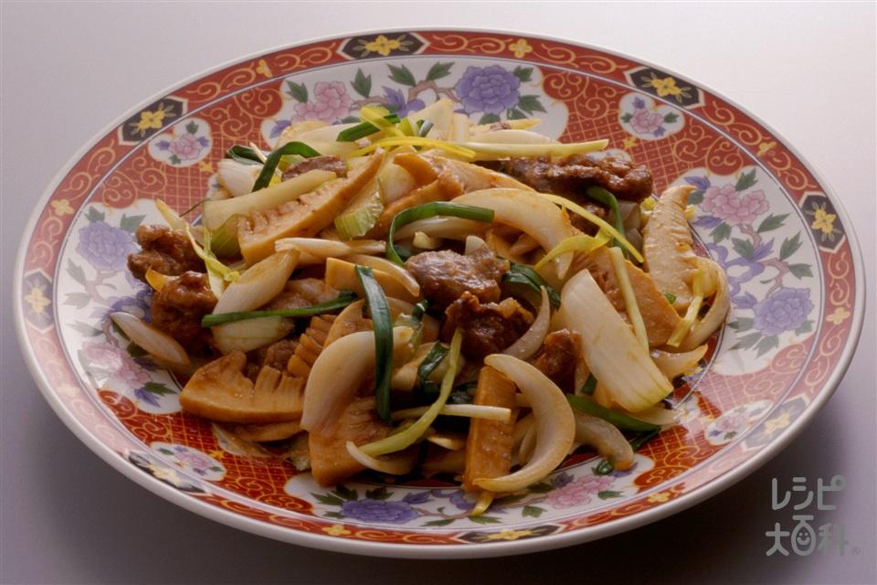 鶏レバ−と野菜の炒め煮