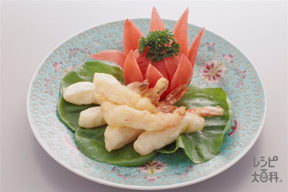 えびの中国風泡雪揚げ(えび+トマトを使ったレシピ)