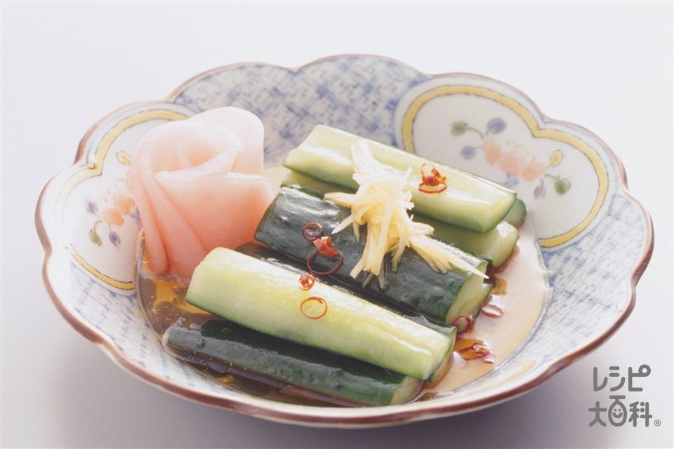 きゅうりのラー油漬け(きゅうり+砂糖を使ったレシピ)