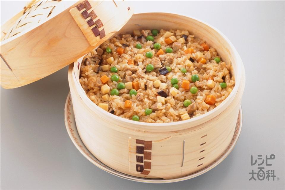 中国風おこわ(もち米+豚もも肉を使ったレシピ)