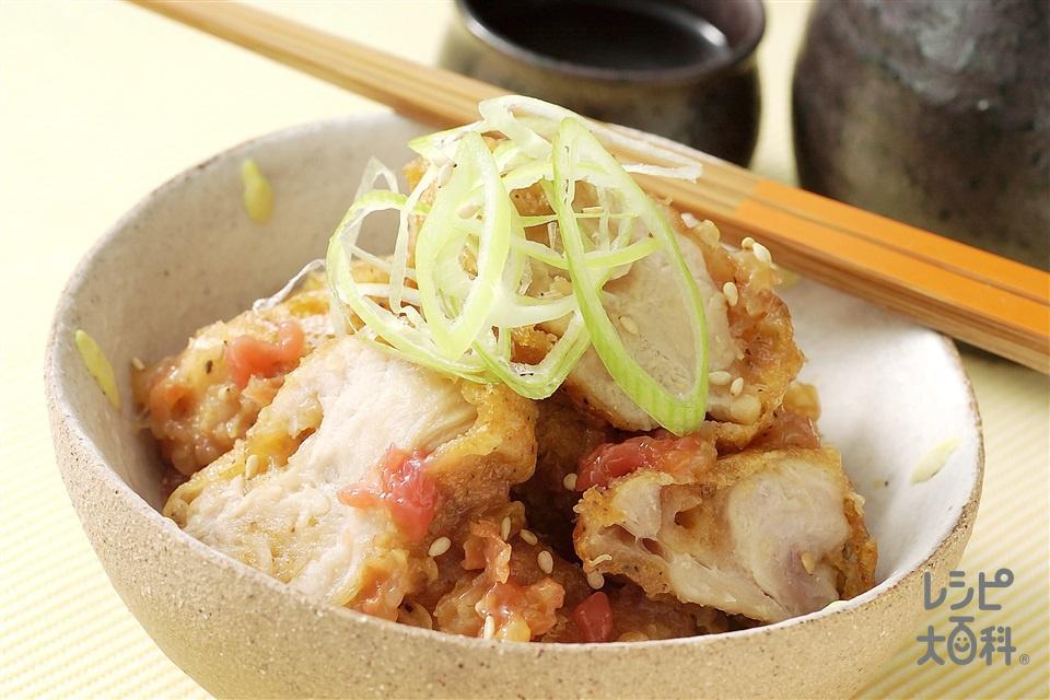 鶏とねぎの梅肉あえ(梅干し+ねぎを使ったレシピ)