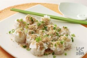 プリプリエビの中国風ガーリックパン粉焼き