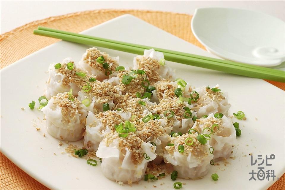 プリプリエビの中国風ガーリックパン粉焼き(乾燥パン粉+小ねぎの小口切りを使ったレシピ)