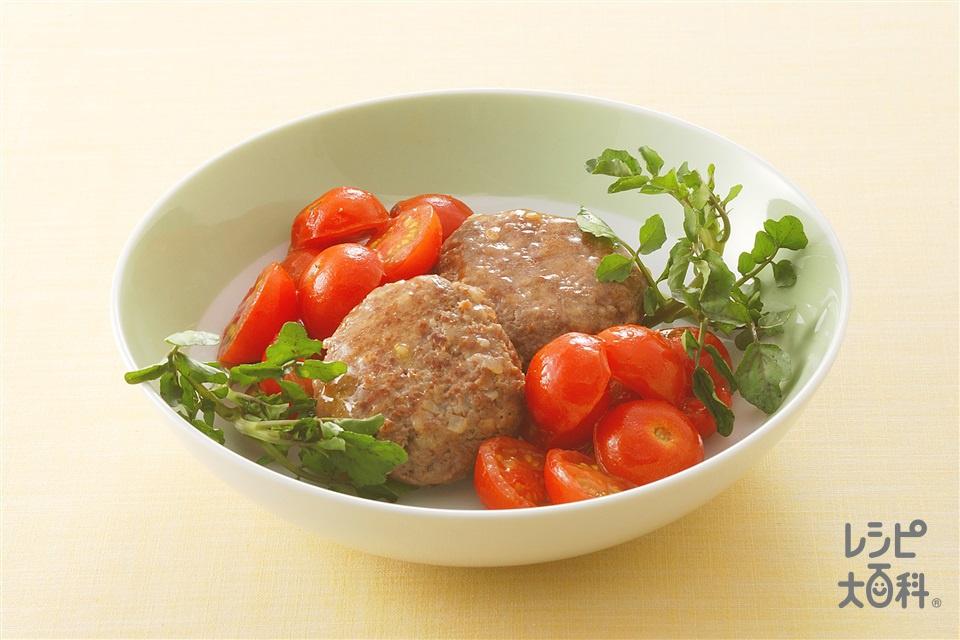 ミニハンバーグのミニトマト煮込み(合いびき肉+ミニトマトを使ったレシピ)