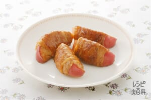 りんごの豚肉巻きソテー