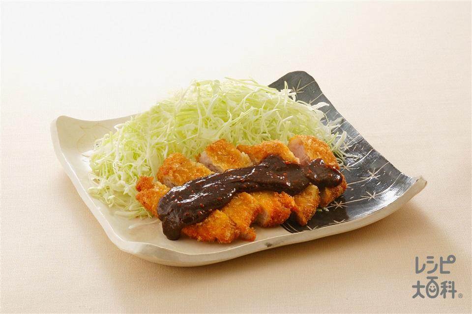 みそかつ(豚ロースとんかつ用肉+「瀬戸のほんじお」を使ったレシピ)