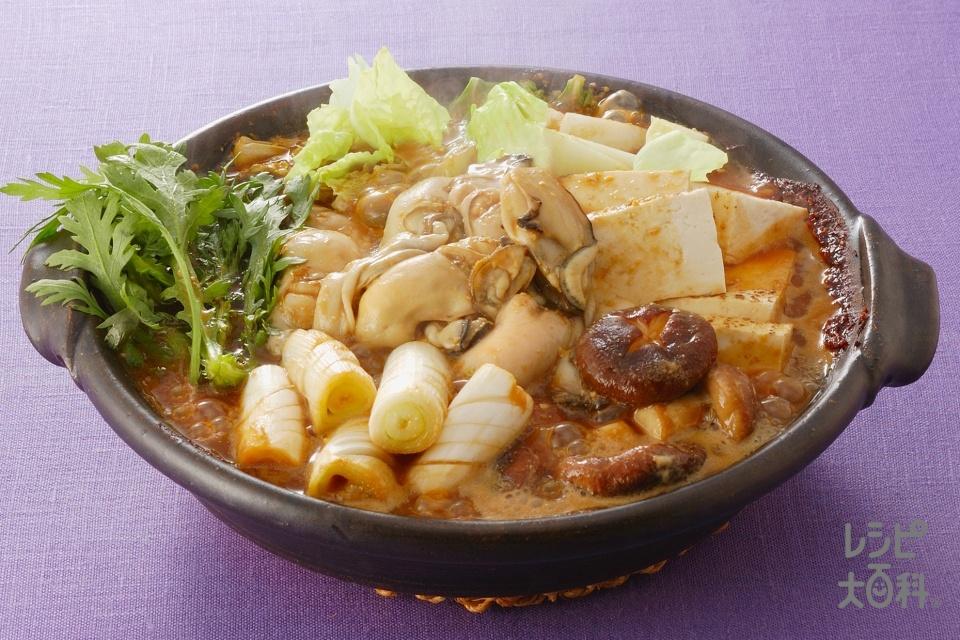 かきの土手鍋 (焼き豆腐+白菜を使ったレシピ)