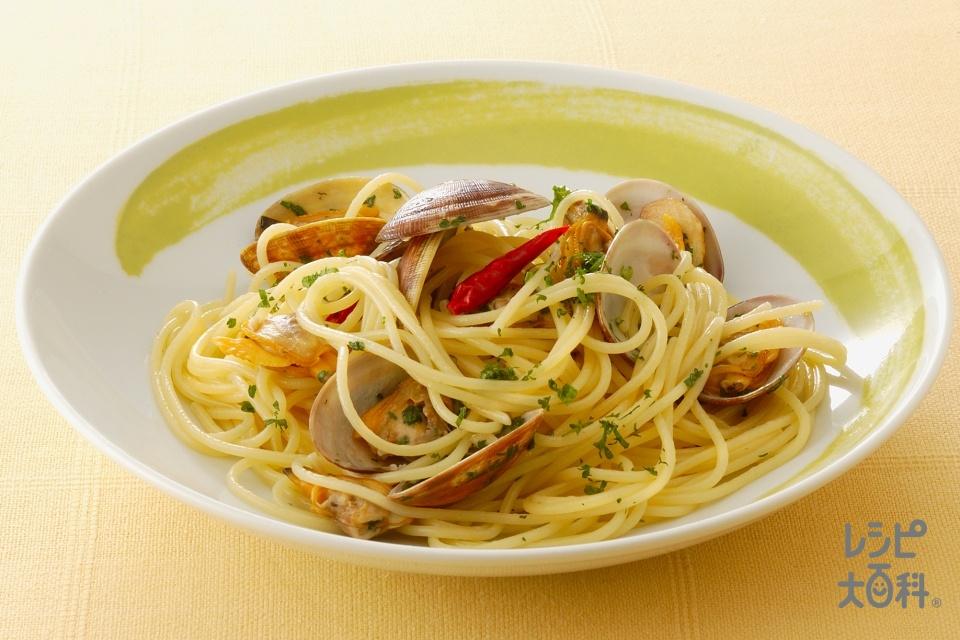 ボンゴレスパゲッティ(スパゲッティ+あさり(殻つき)を使ったレシピ)