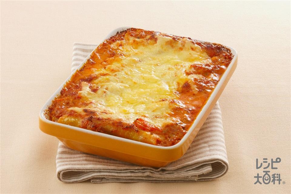 ラザニア (合いびき肉+ホールトマト缶を使ったレシピ)