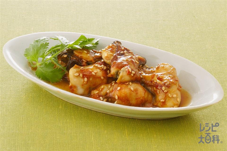 かきの甜麺醤焼き(かき(むき身)+A「Cook Do」甜麺醤を使ったレシピ)