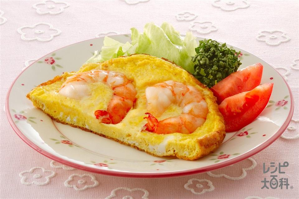 えびと卵のバター焼き(むきえび(大)+卵を使ったレシピ)