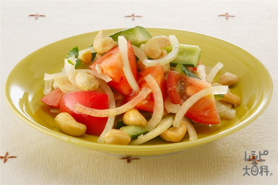 トマト・きゅうり・カシューナッツのサラダ(トマト+きゅうりを使ったレシピ)