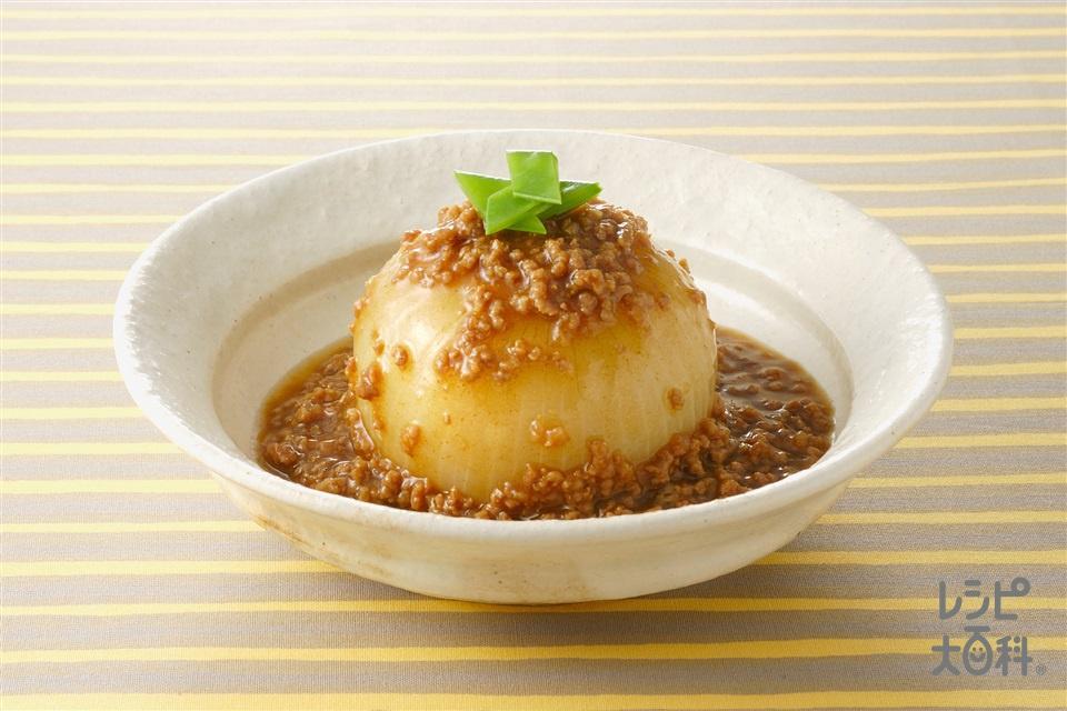 玉ねぎの含め煮 カレーそぼろあん(玉ねぎ+合いびき肉を使ったレシピ)