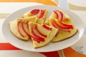 りんごパンケーキ(りんご+牛乳を使ったレシピ)