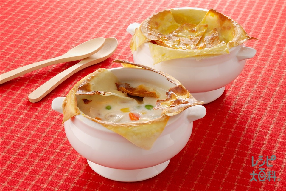 ワンタンの皮のパイスープ(牛乳+ワンタンの皮を使ったレシピ)