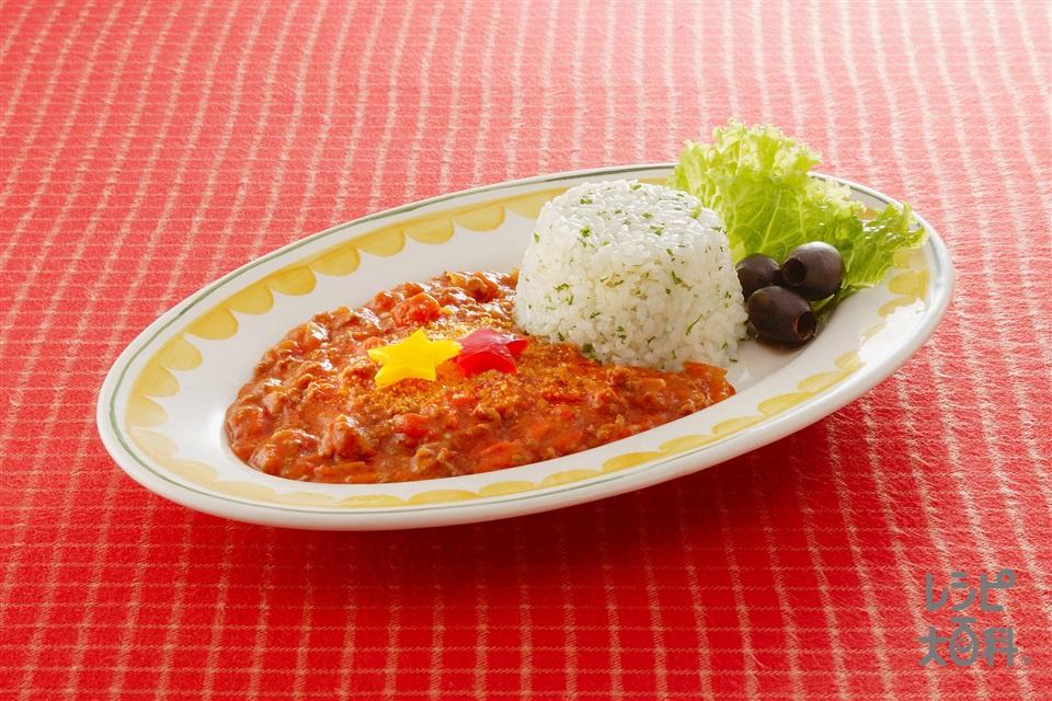 ボロネーゼソースライス(ホールトマト缶+温かいご飯を使ったレシピ)