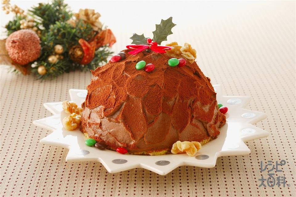 ドームショコラケーキ(卵+生クリームを使ったレシピ)