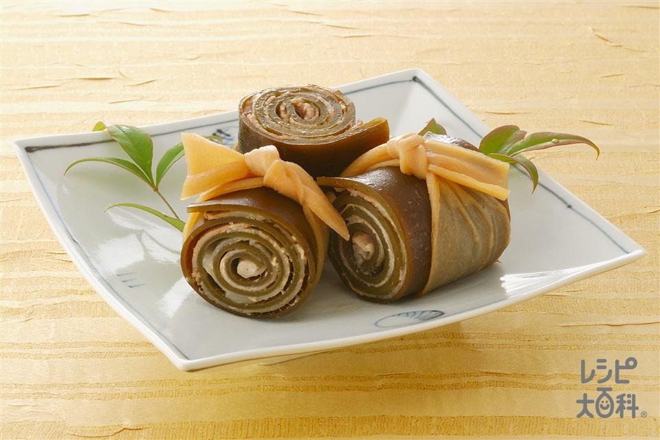 豚ばら昆布まき(昆布+豚バラ薄切り肉を使ったレシピ)