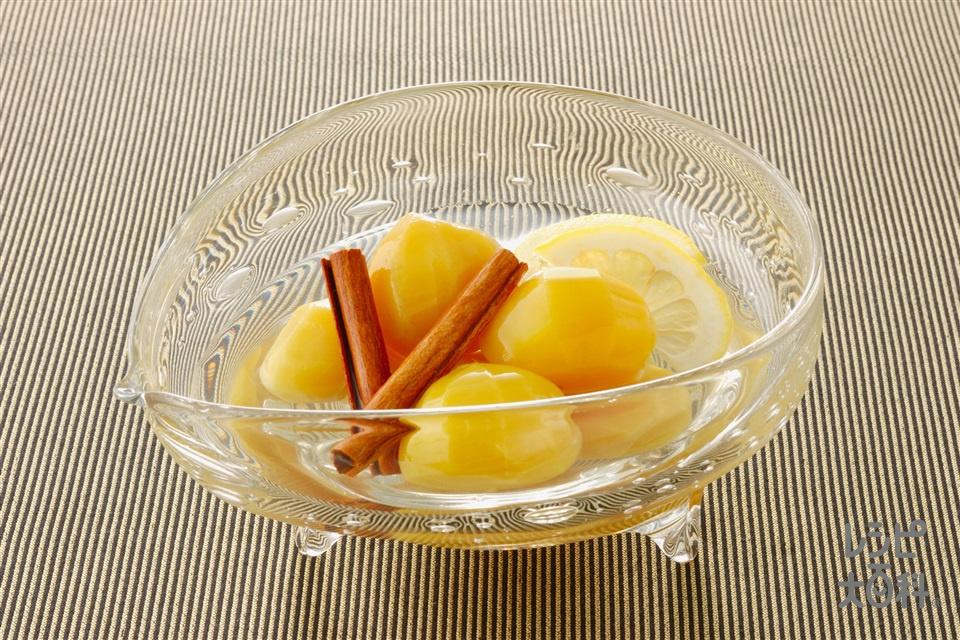 くりのシナモンコンポート(栗の甘露煮+レモンの輪切りを使ったレシピ)