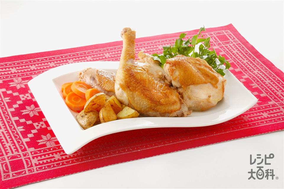 簡単ローストチキン(鶏むね肉+じゃがいもを使ったレシピ)