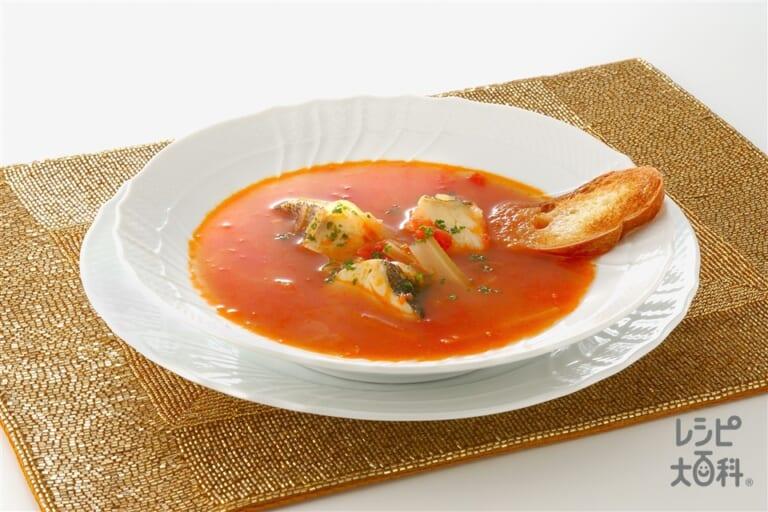 たらとトマトのスープ