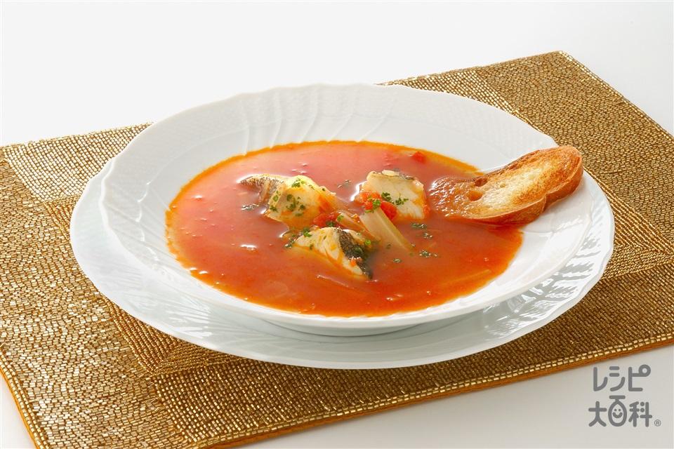 たらとトマトのスープ(たら+ホールトマト缶を使ったレシピ)