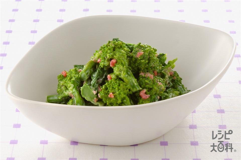菜の花の梅マヨあえ(菜の花+梅干しを使ったレシピ)